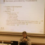 Laurent Cailleux did a great presentation of Trusted Bird!